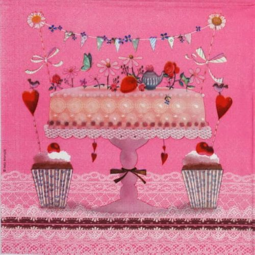 Lunch Napkins (20) - Mila Marquis: Lovely Cake