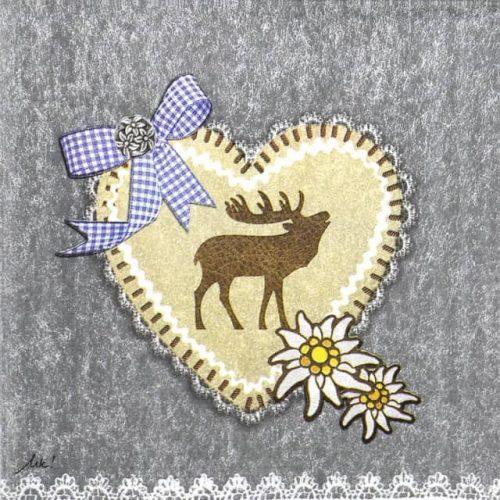 Paper Napkin - Ute Krause: Felt Oktoberfest Emblem