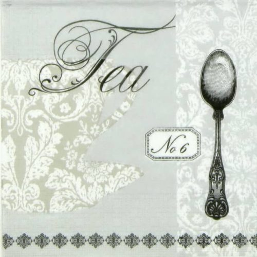 Cocktail Napkin - Paula Scaletta: Baroque Tea Silver