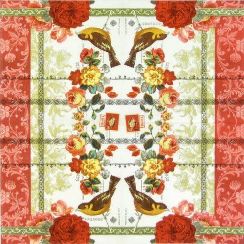 Paper Napkin - Rose Lace