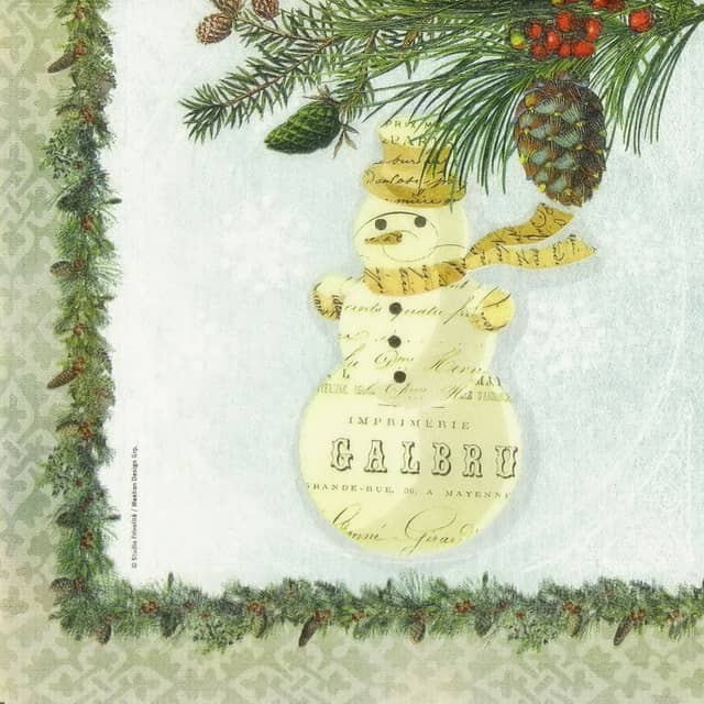 Paper Napkin - Christmas Snowman