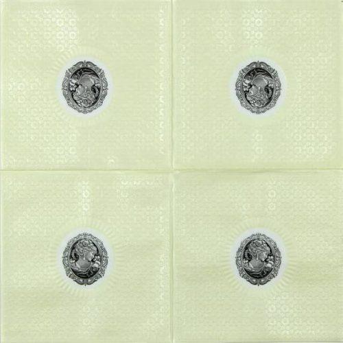Paper Napkin - Medaillon Cameo Ivory