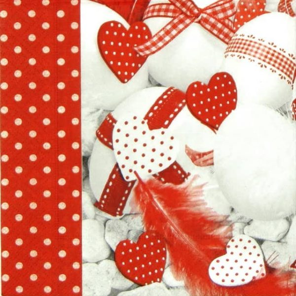 Paper Napkin - Red & White Easter