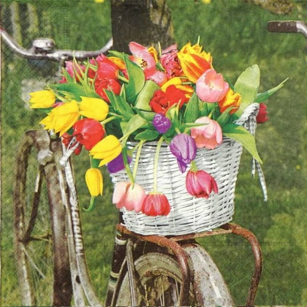 Paper Napkin - Tulip Basket