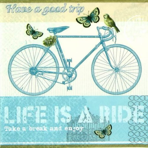 Paper Napkin - Life is a ride