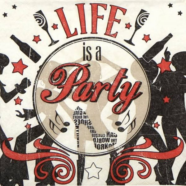 Paper Napkin - Life is a