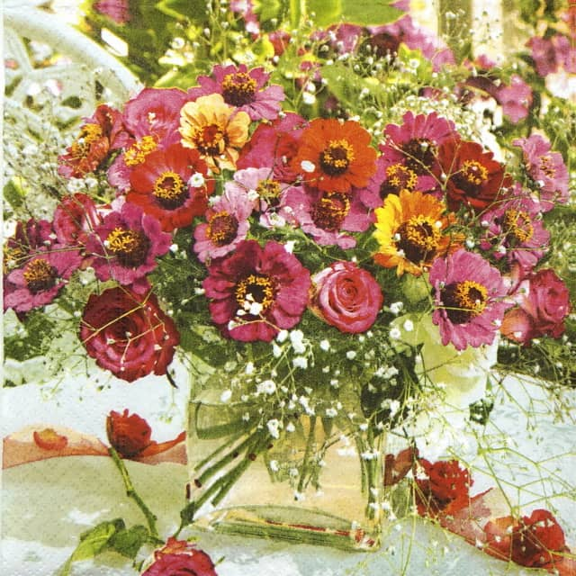 Lunch Napkins (20) - Garden Zinnias