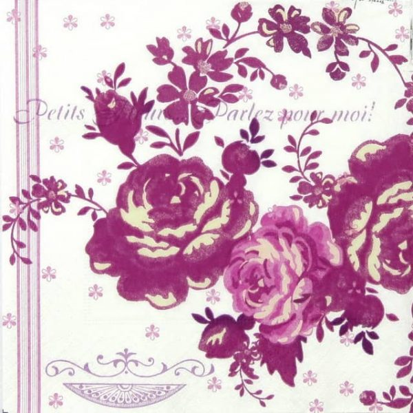Paper Napkin - Accent of Roses