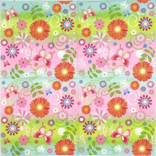 Paper Napkin - Flowery Pattern