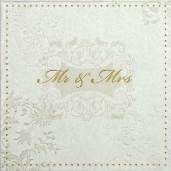 Paper Napkin - Mr & Mrs Embossed Gold