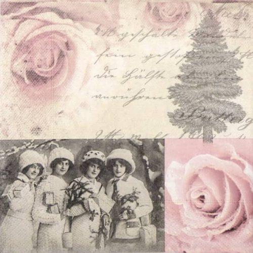 Paper Napkin - Four Ladies