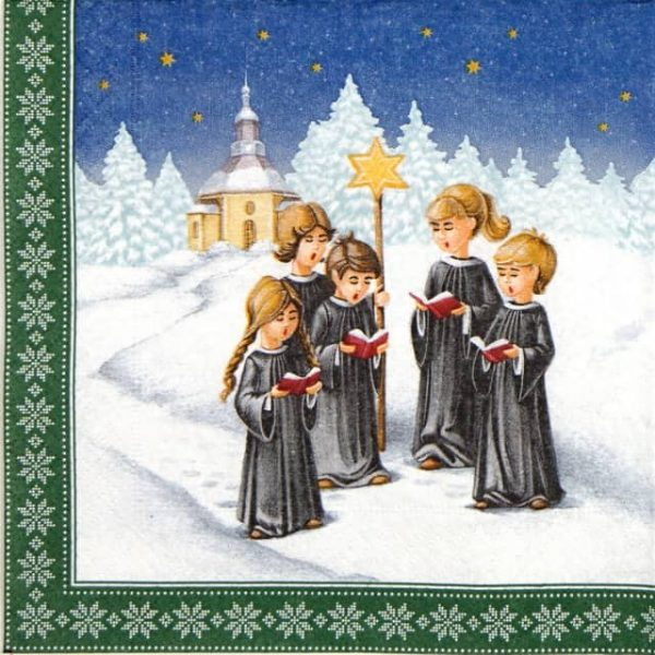Paper Napkin - Winter Choir