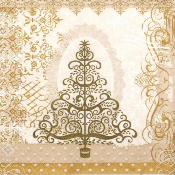 Paper Napkin - Baroque Tree
