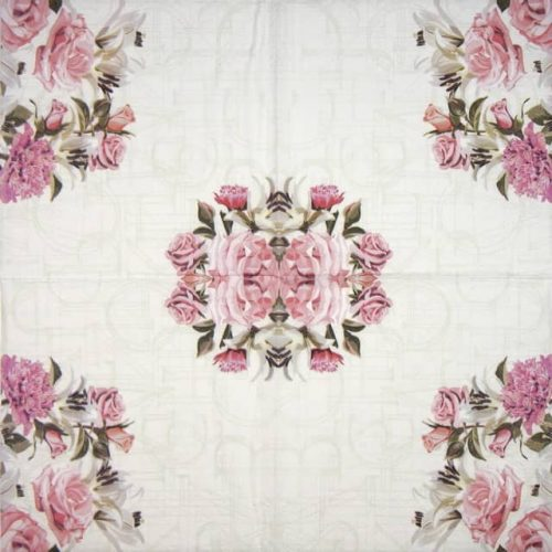 Paper Napkin - Rose Letters