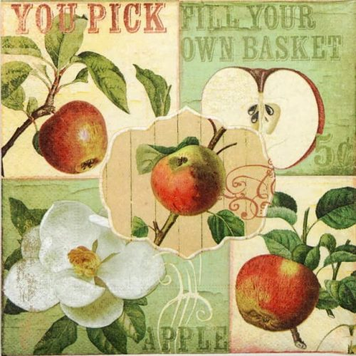Paper Napkin - Apple Garden