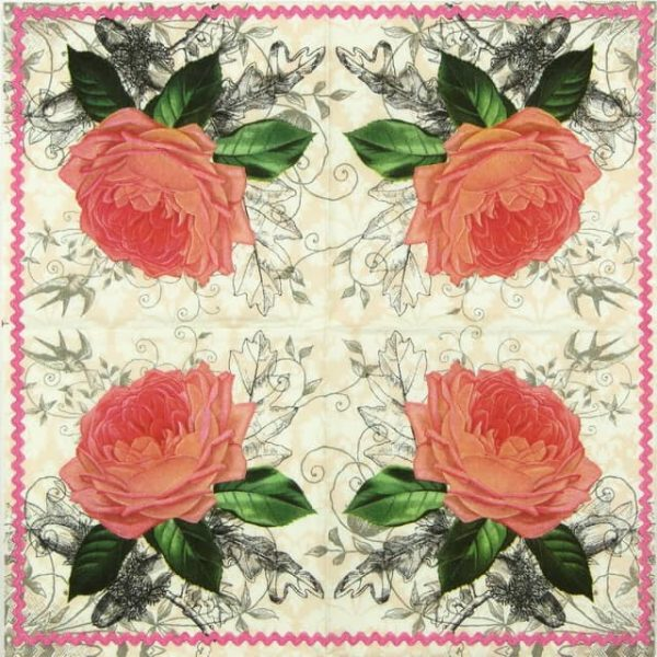 Lunch Napkins (20) - Charming Rose