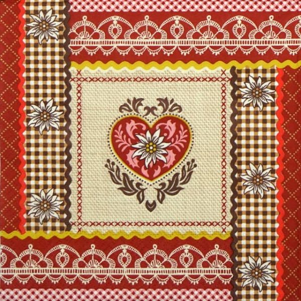 Lunch Napkins (20) - Rustic Heart