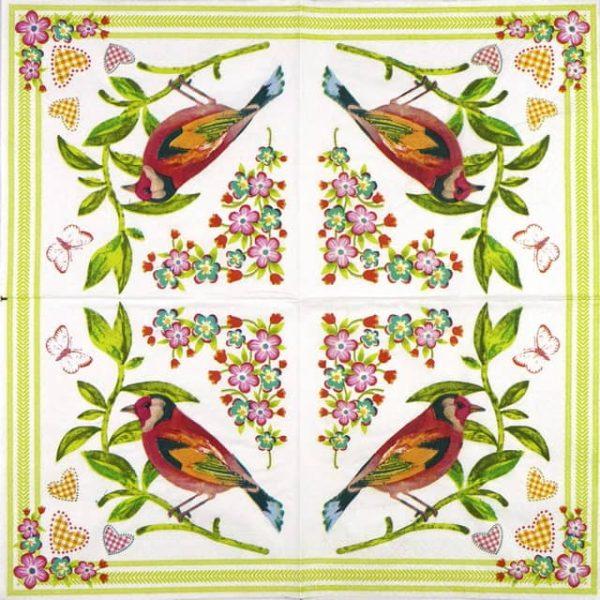 Lunch Napkins (20) - Love Bird