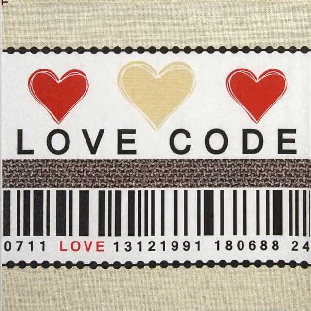 Paper Napkin - Love code