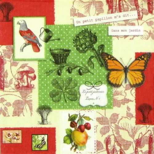 Paper Napkin - Mademoiselle Butterfly