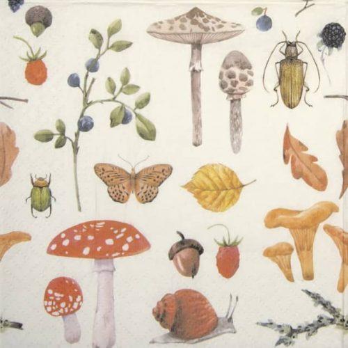 Paper Napkin - Forest Botany