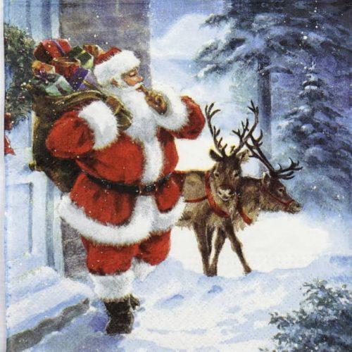 Paper Napkin - Santa is coming - Paw