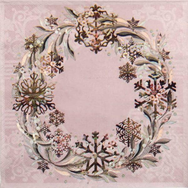 Paper Napkin - Pastel Wreath