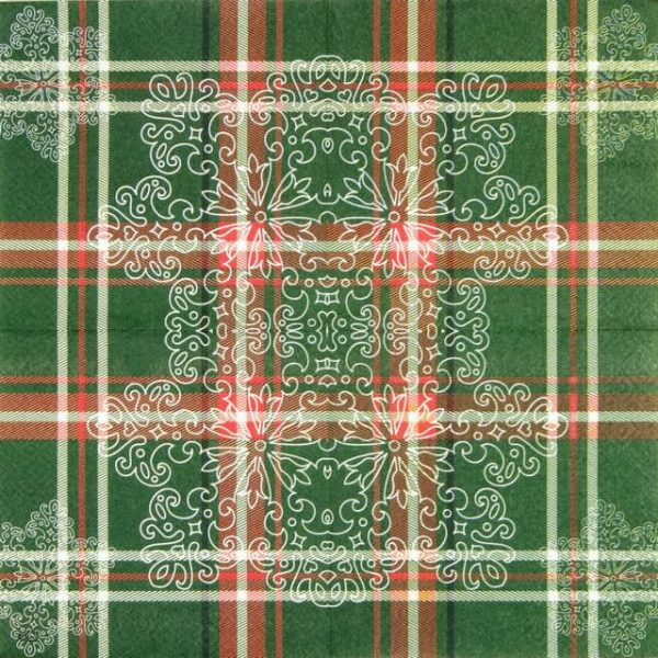 Lunch Napkins (20) - Christmas Grid