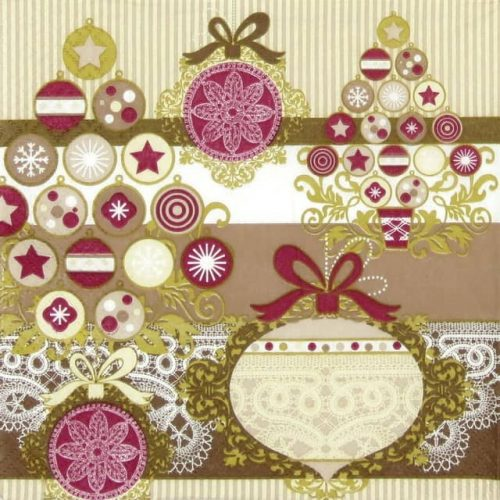Lunch Napkins (20) -  Cheerful Tree Gold