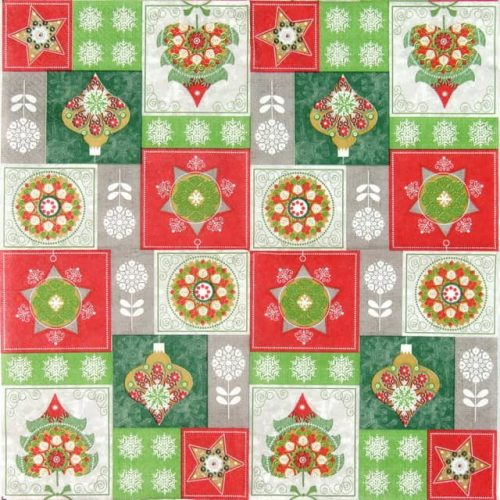 Lunch Napkins (20) - Christmas Baubles