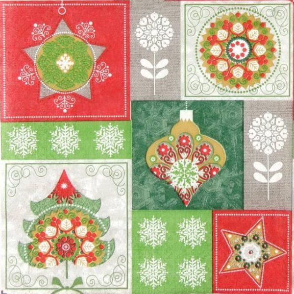 Paper Napkin - Christmas Baubles