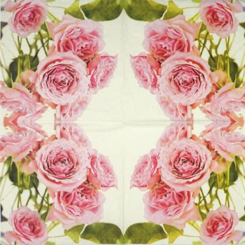 Lunch Napkins (20) - Pink Roses