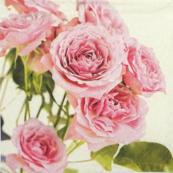 Paper Napkin - Pink Roses