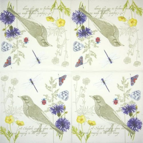 Lunch Napkins (20) - Summer Letter