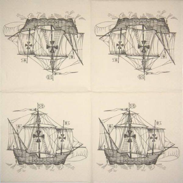 Lunch Napkins (20) - Sailing Ship