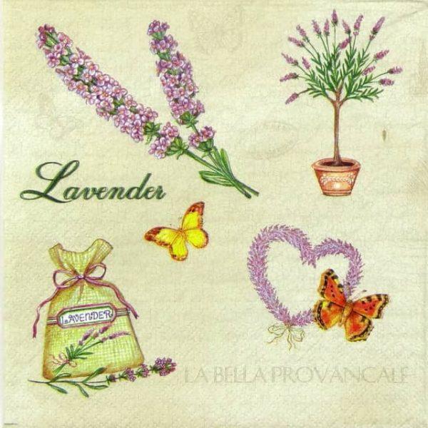 Paper Napkin - Lavenders