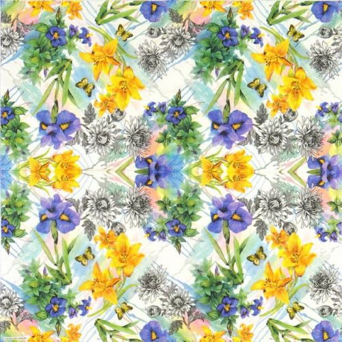 Paper Napkin - Colourful Lily