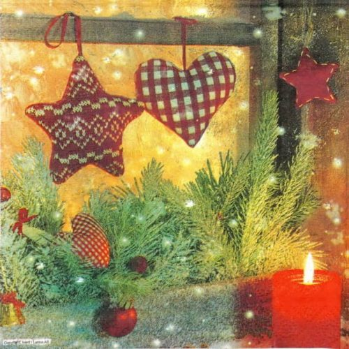 Paper Napkin - Christmas Window