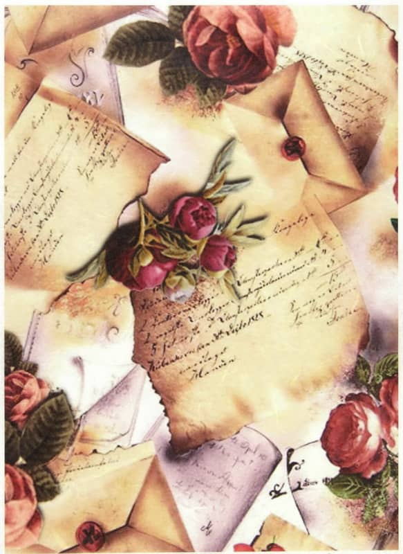 Rice Paper - Letters with Roses