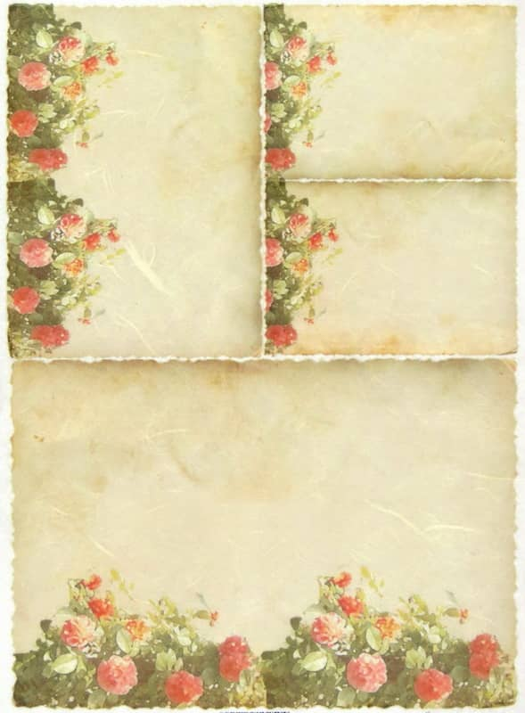 Rice Paper - Flower Background