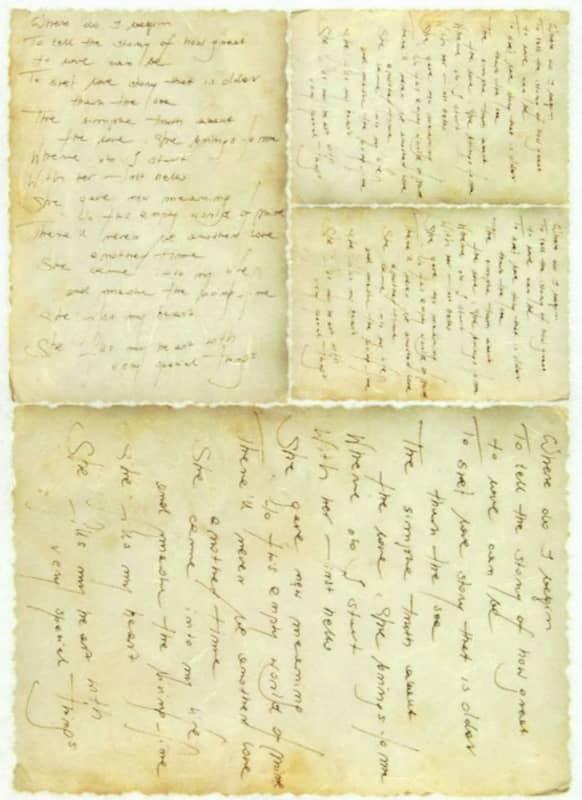 Rice Paper - Vintage Old Letter