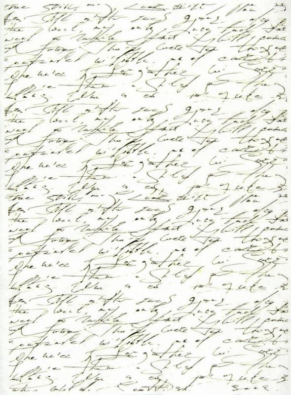 Rice Paper - Handwriting Antique
