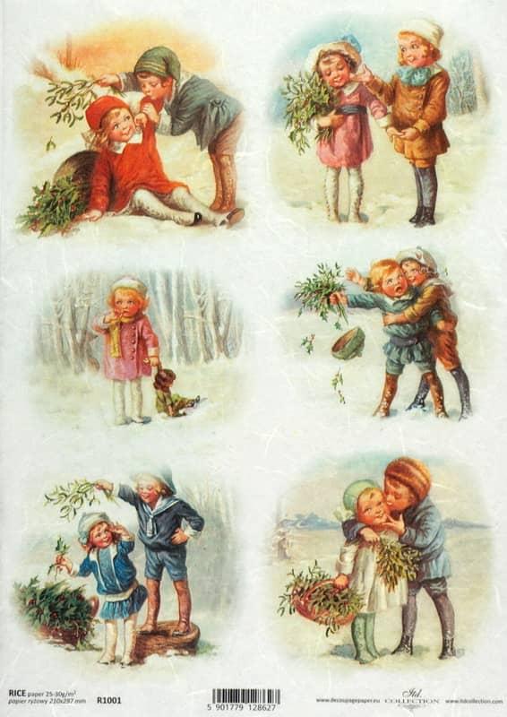 Rice Paper - Vintage Winter Friends