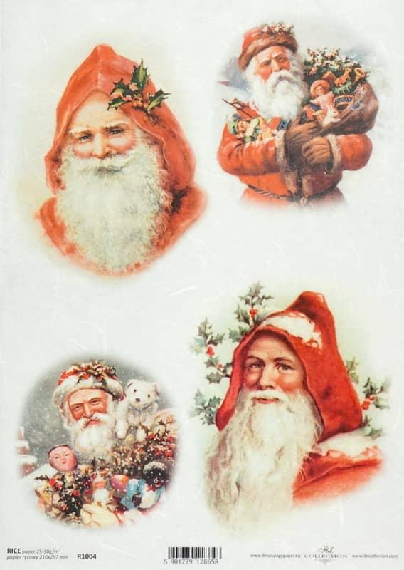 Rice Paper - Vintage Working Santa 4