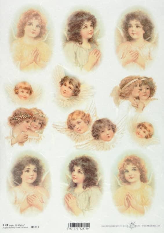 Rice Paper - Vintage Sweetly Angels
