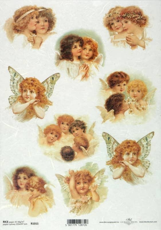 Rice Paper - Vintage Sweetly Angels2