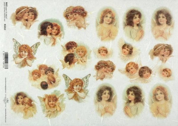 Rice Paper - Vintage Lovely Angels