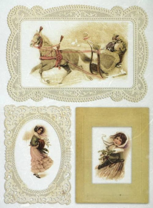 Rice Paper - Vintage Winter Journey