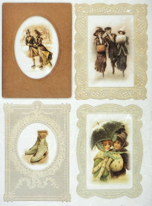 Rice Paper - Vintage Winter Holiday