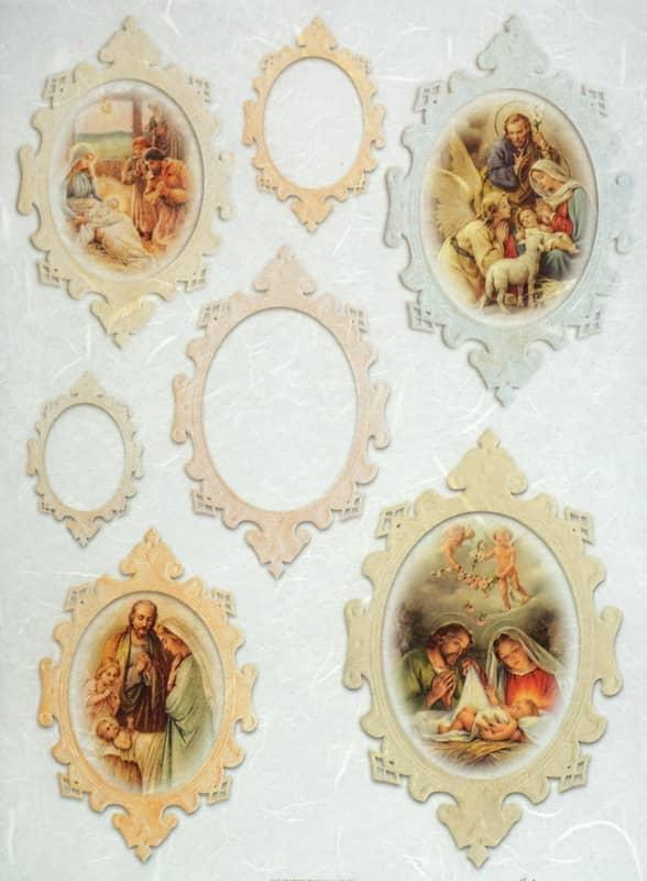 Rice Paper - Vintage Jesus Born